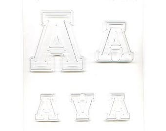 """Collegiate Letter """"A"""" Chocolate Candy Mold"""