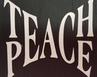 Teach Peace Etsy