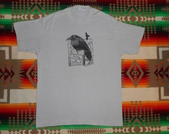 Raven Wildlife T Shirt Size Large