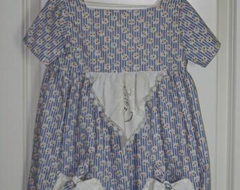 Girls Size 5 Handmade Vintage Dress