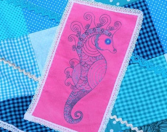 Sotis Seahorse Embroideryfile: in 3 variants sizes 13x18 frame size