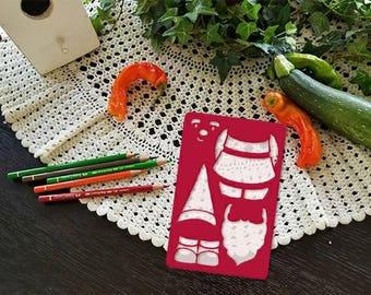 Mr. Gnome Stencil for bullet journal bujo planner bible art journaling