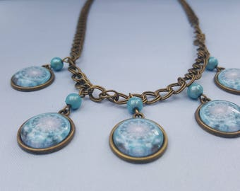Bronze - blue necklace