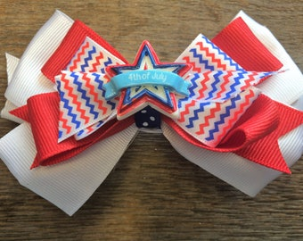 Independence Day Hair Bow
