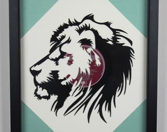 Lions Head, Vinyl LP Wall Art