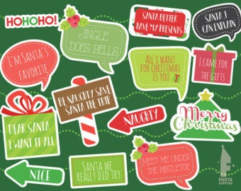 PRINTABLE Christmas Photo Booth Props - Printable Christmas Props - Christmas Printable - Christmas Photo Booth Sign - Instant Download