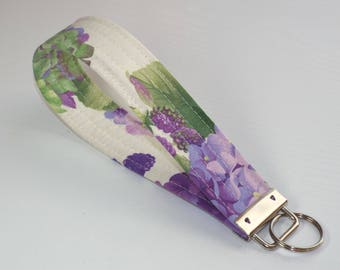 Wristlet Key Chain Key Fob, Fabric Key Fob Wristlet Key Fob, JenniferAndMandy, Fabric Key Chain, Wristlet Keychain Fabric Keychain, Keychain
