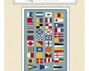 American Jane Nautical Flags quilt pattern, by Sandra Klop