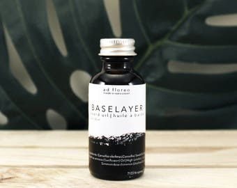 Beard Oil: BASELAYER - organic, light, unscented beard oil, organic argan oil, organic jojoba oil, light beard oil, organic skincare