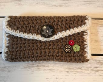Crochet Wallet Gingerbread Themed Reduced!!