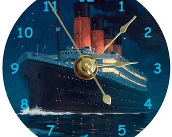 RMS Titanic cd clock can be personalised