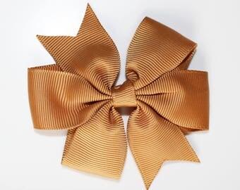 Hair bow clip gold