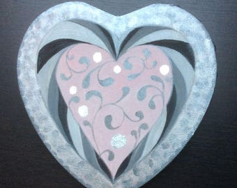 Heart for Valentine's day - original acrylic painting on canvas