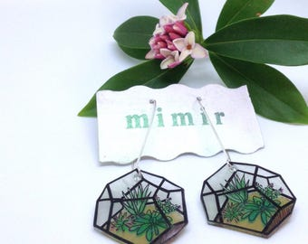Terrarium earrings