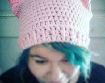 Pink PussyHat,  PussyHat Project, Pink hat , Cat hat, Crochet hat