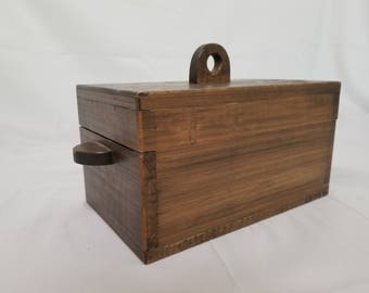 ON SALE, Katalox Wooden Box, Wood Box, Exotic Wood Box, Simple Wood Box, Antique Wooden Box, exotic woods, trinket box, jewelry box, vintage