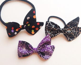halloween bows, baby bows, newborn bows,
