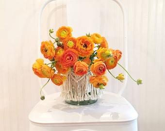 Macrame Container, Macrame Vase, Macrame Jar, Macrame Candle Holder, Candle Holder, Vase