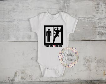 Lineman onesie//lineman daddy//funny onesie//gerber onesie//fathers day gift//my daddy is better//baby shower gift//
