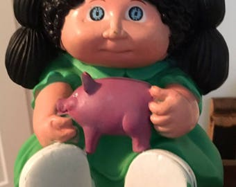1983 Cabbage Patch Kid Piggy Bank - Vintage