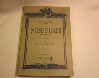 Vintage 1948 Handel's Messiah score - publ. Carl Fischer; JM Coopersmith, editor