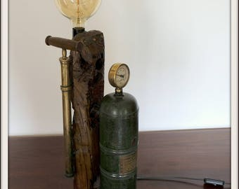 handcrafted vintage lamp