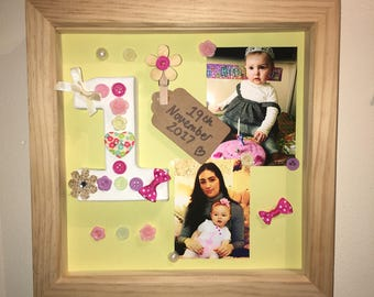 Personalised birthday/milestone frame