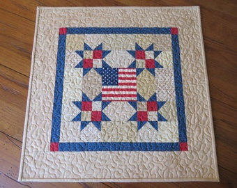 Quilted Table Topper - American Flag