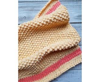 Spring Ahead Dishtowel Pattern   Easy Knitting Pattern