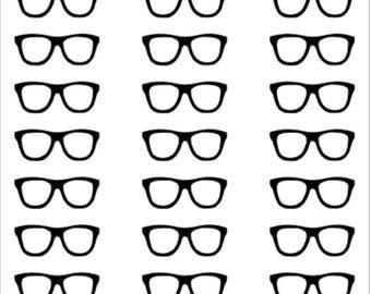 Nerd glasses planner stickers