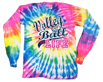 Volleyball Life - Volleyball Tie-Dye Long Sleeve