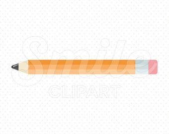 ORANGE PENCIL Clipart Illustration for Commercial Use | 0106