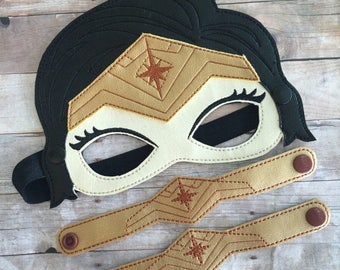 SUMMER SALE New Wonder Woman Mask and Bracelet sets. Pretend Play