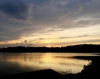 The ouachita sunset