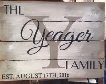 Family Name Custom made sign