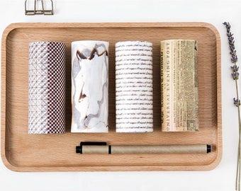 10cm Wide Washi Tape Set 1 - Planner, Journal, Scrapbooking, Decoration, Vintage, Newspaper, Handwriting