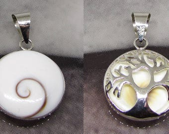 Tree of life pendant silver eye of Saint Lucia