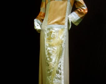Stunning Rare Japanese Style Caftan Gown by Jon Shannon
