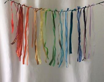 Rainbow Ribbons Garland