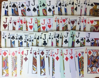 JACKS or Better ~ Set of 16 Jacks Playing Cards ~ 16 Jacks from Assorted Card Decks 4 from each Suit