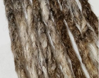 3 SE Ombre Blonde Mix Black,Brown,Blonde/White Blonde Mixed Knotty Synthetic Dreads /Ready to Ship