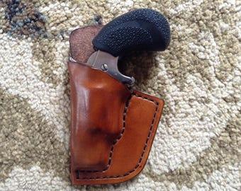 NAA Mini 22LR Revolver Hermann Oak Leather Holster