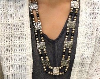 Carved Gems necklace