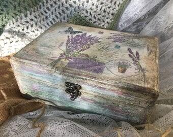 Vintage Provence lavender box