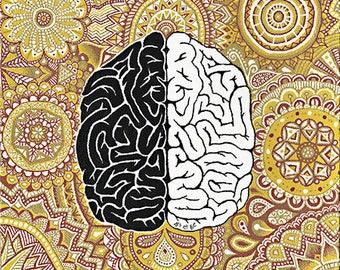 """Canvas """"Big Brain: consciousness""""-""""Big Brain: consciousness"""" painting"""