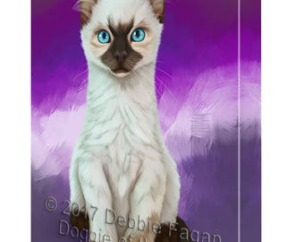 Siamese Kitten Canvas Wall Art