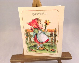 Get Well - Autumn Greeting Card -Vintage Fall Greeting Card