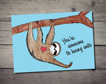 Sloth Love Postcard