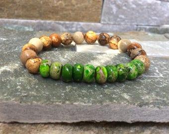 Jasper bracelet promotes endurance tranquillity willpower