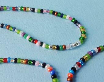 Glass Beaded necklace + 2 Bracelets